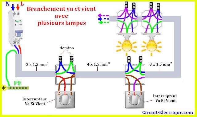 Branchement Interrupteur Va Et Vient Tableau Electrique Maison Schema De Cablage Electrique Circuit Electrique