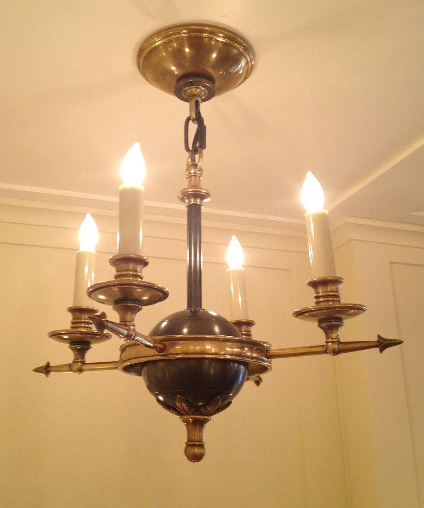 Small arrow and leaf chandelier antique brass bronze lighting small arrow and leaf chandelier antique brass bronze arubaitofo Choice Image