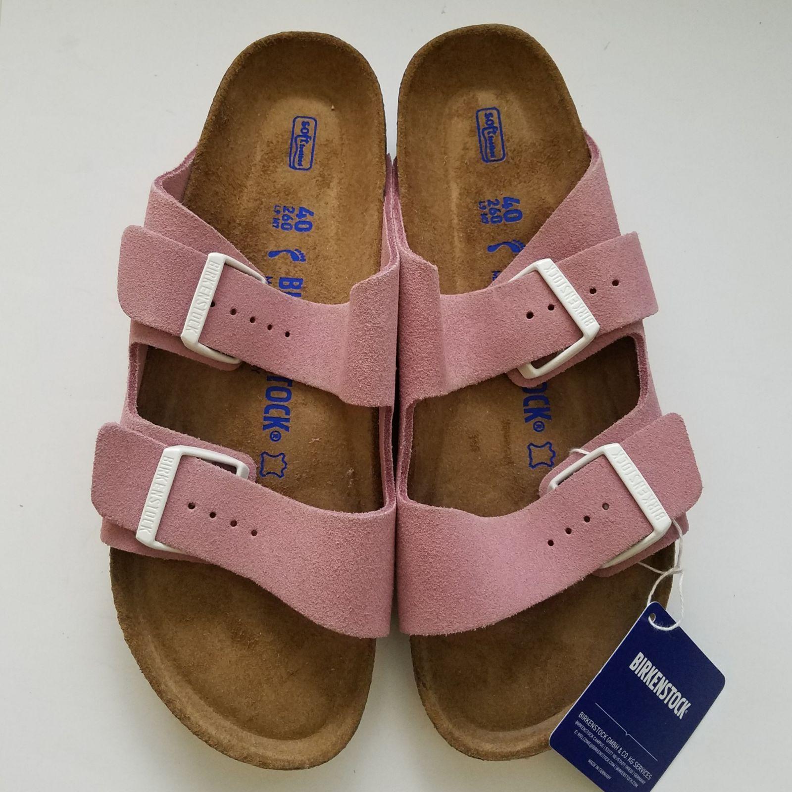 birkenstock suede pink