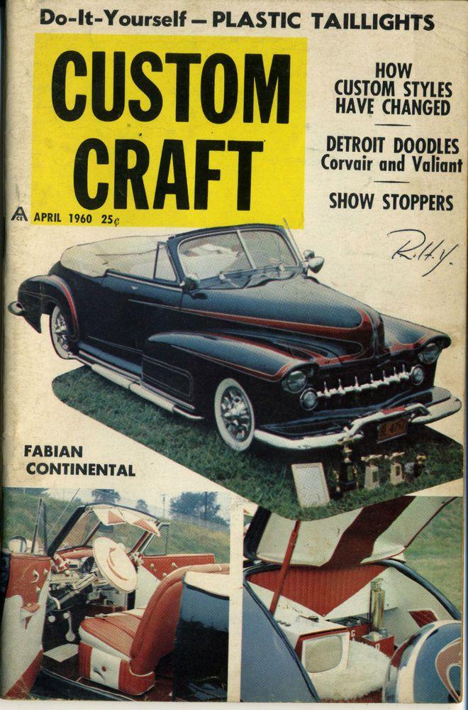 custom craft magazine vtg april 1960 hot rod drag race show car do ...