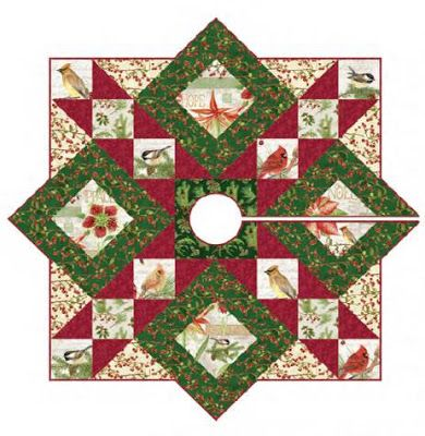Quilt Inspiration Free Pattern Day Christmas Tree Skirts Christmas Tree Skirts Patterns Tree Skirt Pattern Christmas Tree Quilt