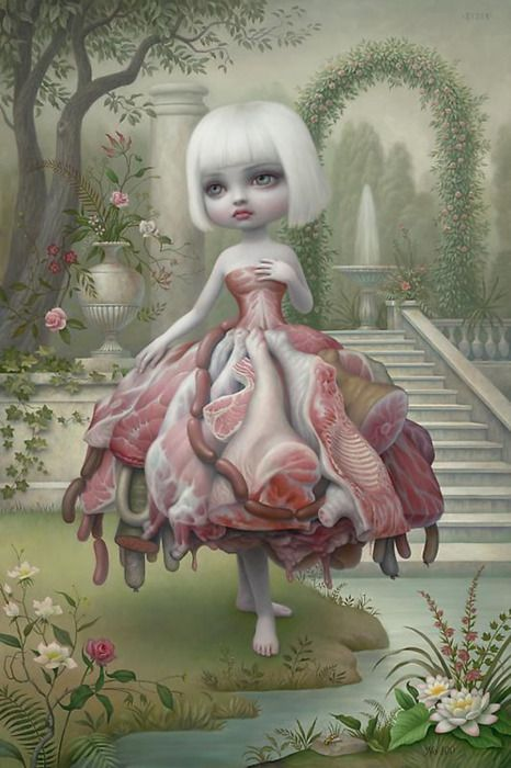 "The Mark Ryden painting that inspired Lady Gaga's ""Meat Dress"" (⁀‵⁀,) ✫♥  ✫♥☆♥♥ღ ♥♥♥ ♥ ♥ ♥ 