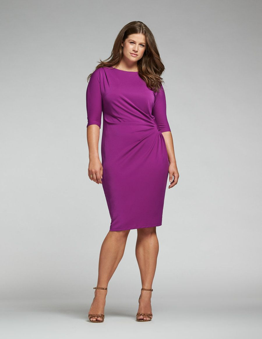 76d645e2c28 navabi Draped waist dress in Pink Work Dresses With Sleeves