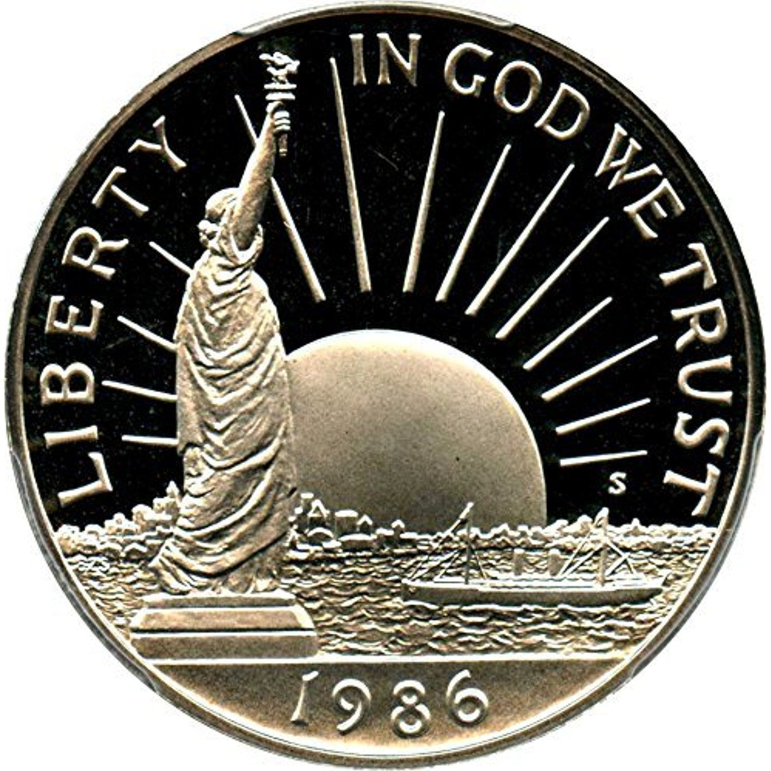 1986 S Us Commemorative Proof Half Dollar Statue Of Liberty 50c Us Mint 1 2 Proof Dcam Us Mint Read More At The Image L Half Dollar Coins Coin Collecting