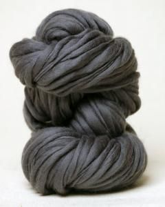 Habu Textiles Thick and Thin wool yarn. What a perfect gray!
