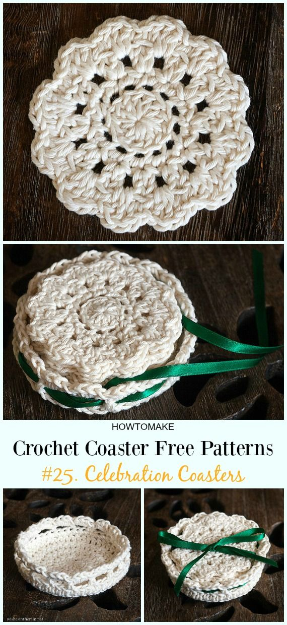 Easy Crochet Coaster Free Patterns Any Beginners Can Try | Knit ...