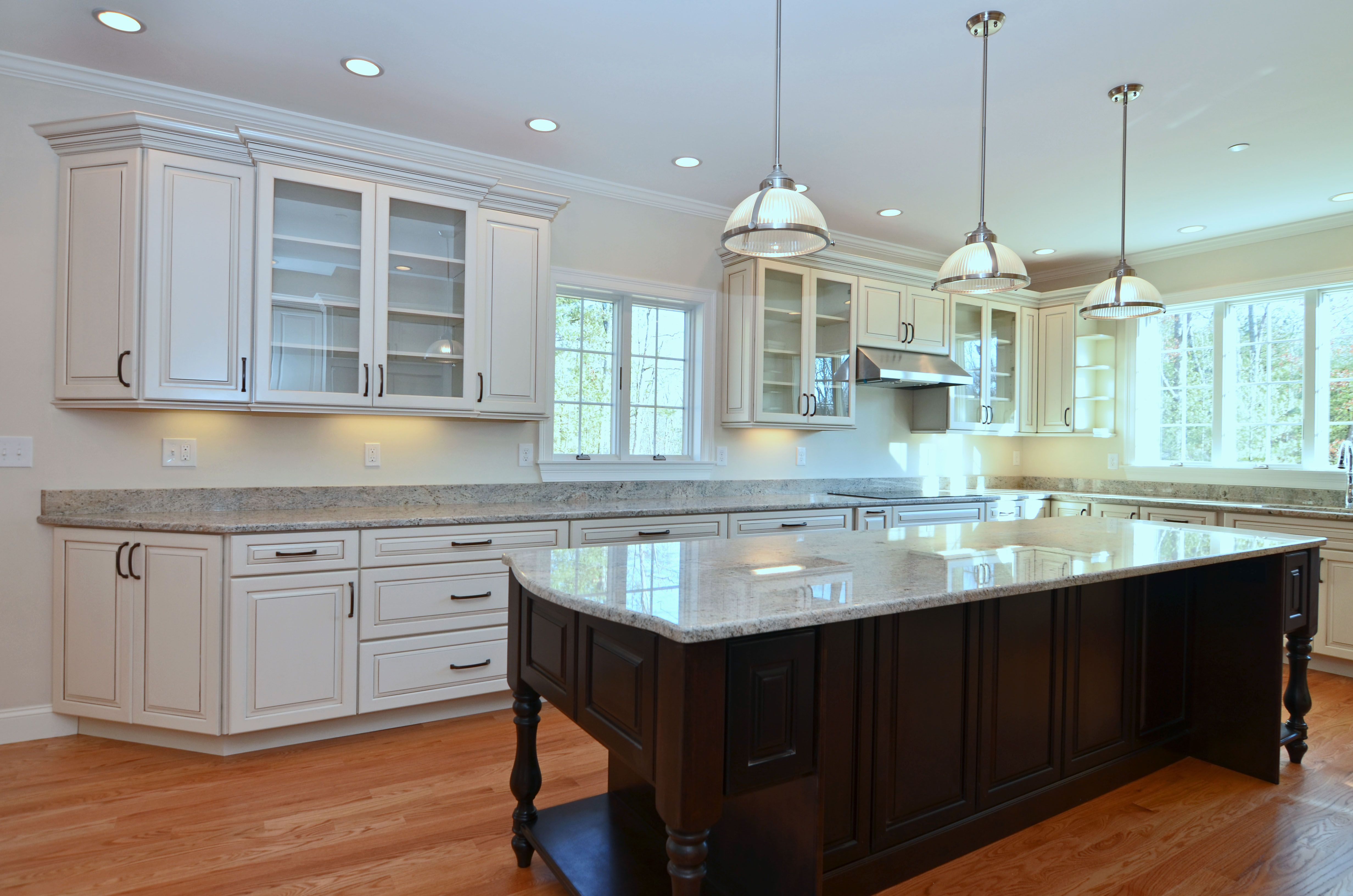 KraftMaid cabinets with Maple wood with Canvas paint. They ...