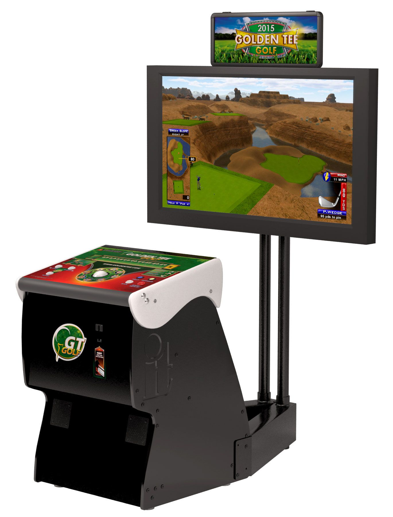 2016 Golden Tee Golf Home Arcade Game With Monitor Stand