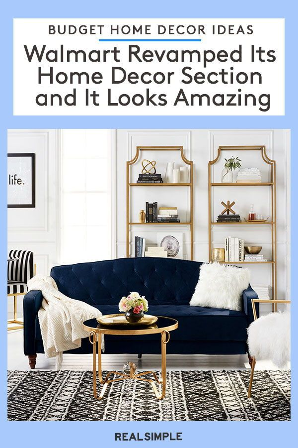Woah! Walmart Just Released Photos of Its Revamped Home Decor Section and It Looks Amazing | Click here to see the most stylish and affordable home decor items that America's largest box retailer currently offers. Plus, more room inspiration and DIY ideas to help you redecorate any space in your home. #decorideas #homedecor #realsimple #decoronabudget #budgetdecor