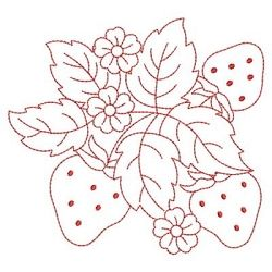 Redwork Yummy Strawberries 9 - 3 Sizes! | Redwork | Machine Embroidery Designs | SWAKembroidery.com