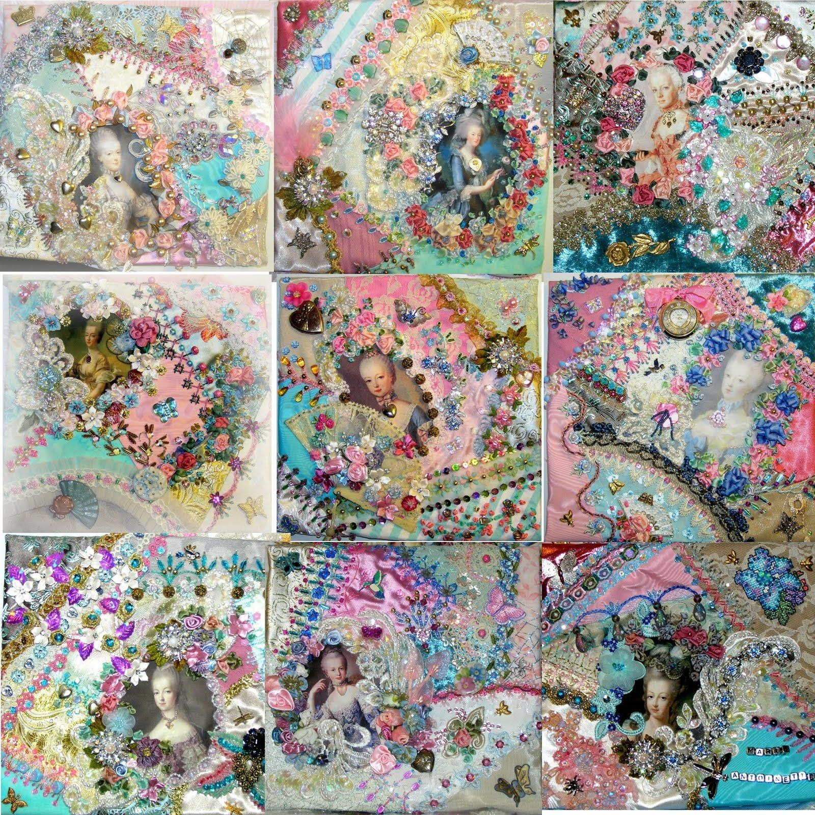 Crazy Quilting And Embroidery Blog By Pamela Kellogg Of Kitty And Me  Designs: Marie Antoinette