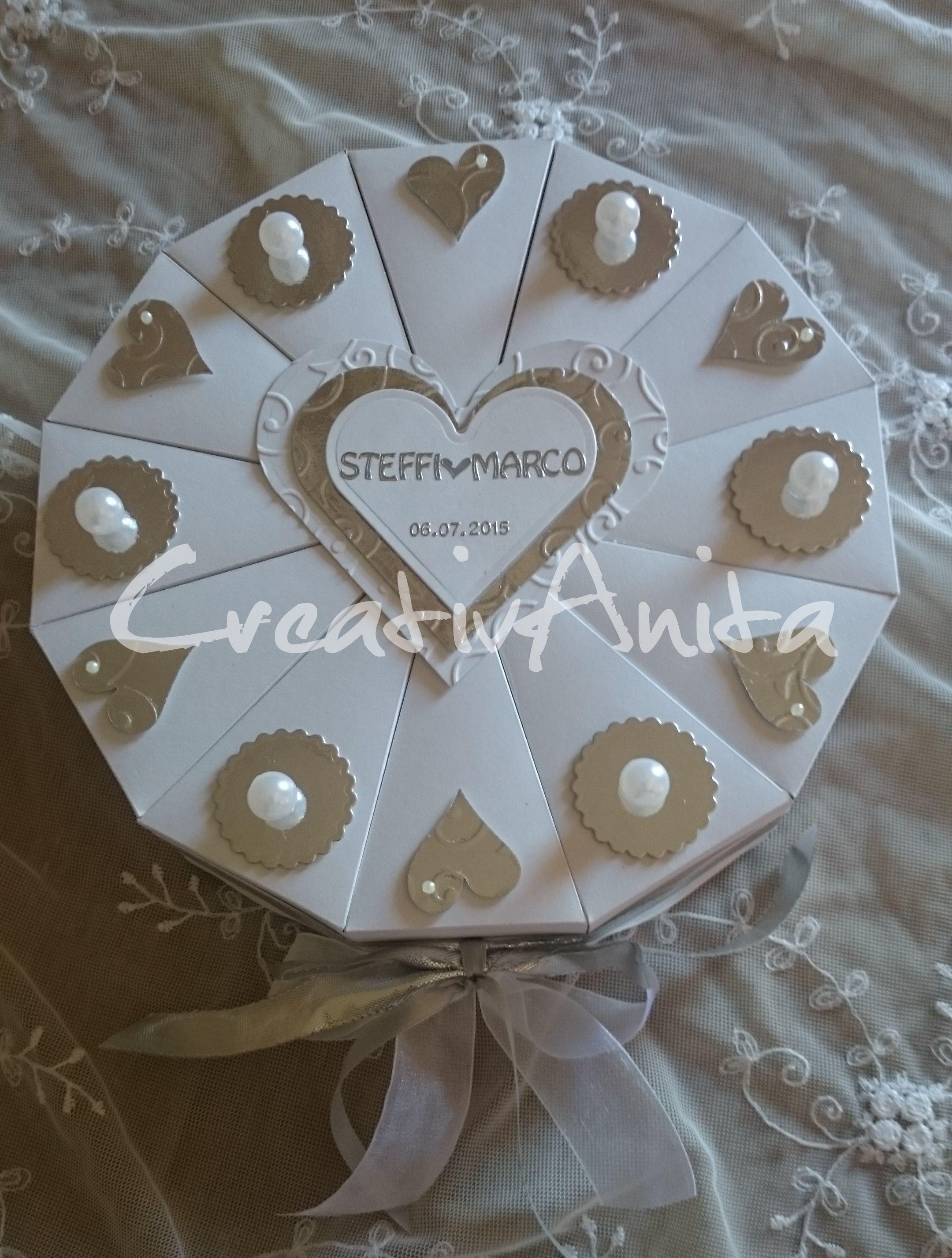 geschenk verpacken perlenhochzeit