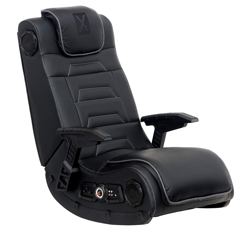 X Rocker Pro Series H3 Black Leather Vibrating Floor Video