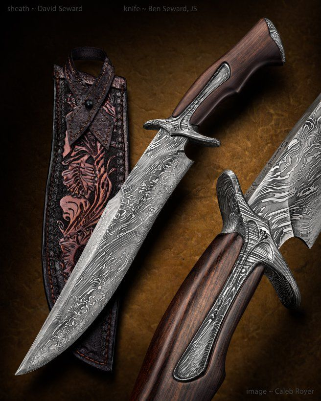 bowies and fighters ben seward knives hand made knives pinterest messer messer und. Black Bedroom Furniture Sets. Home Design Ideas