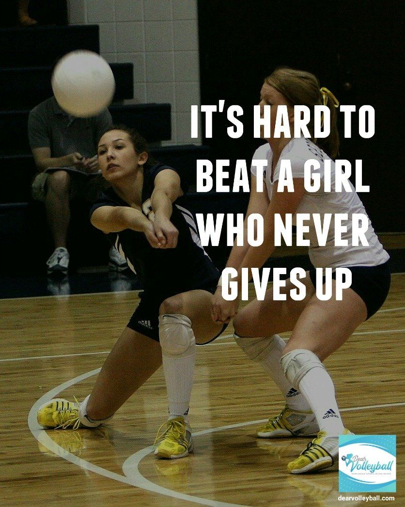 An Inspirational Volleyball Quote With 33 Pictures of