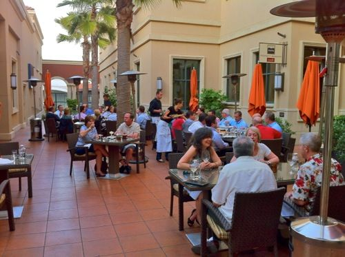 Outdoor Courtyard At Oenotri In Downtown Napa California