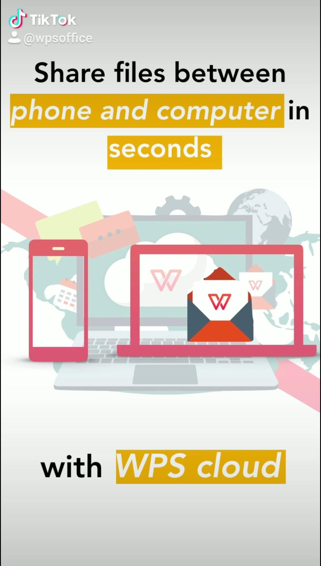 How To Share Files Excel Word Presentation In 1s With Wps Cloud Between Mobile And Computer For Free Easy Efficient Video Wps Tutorial Clouds