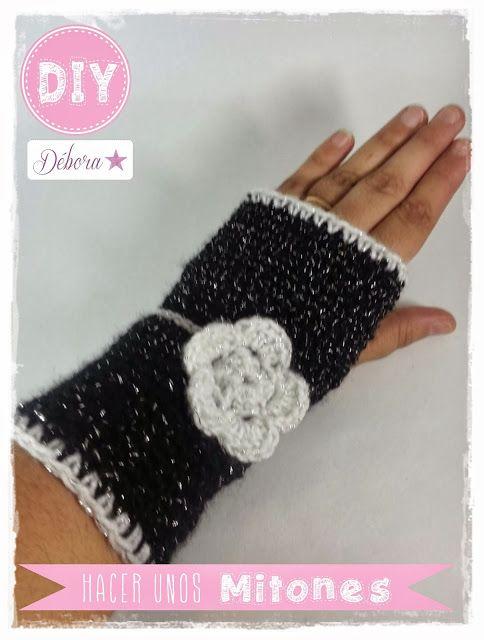 ♥ Patrón para hacer Mitones a ganchillo   TEBJIDO   Pinterest ...