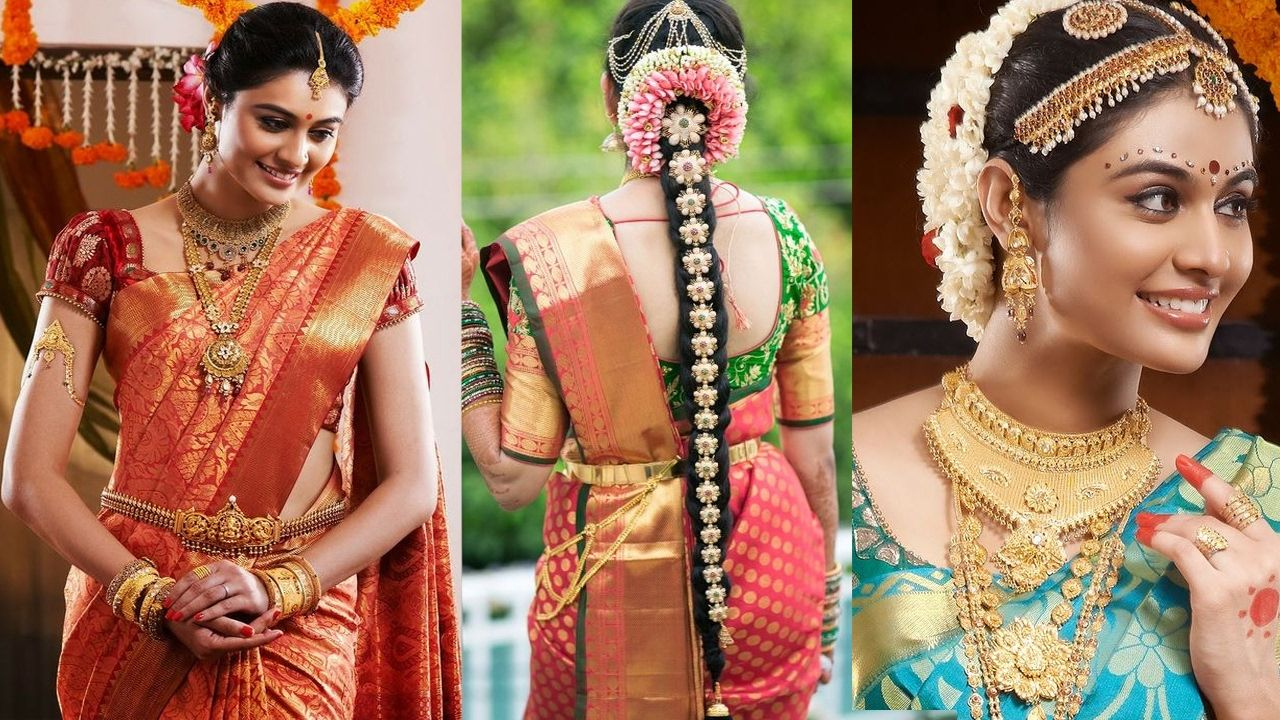 southindian #bridal #sareedraping with #bridalmakeup