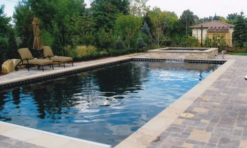 rectangular pool design google search - Rectangle Pool With Spa