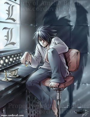 L in the dark | anime | Death note, Death note l, Anime
