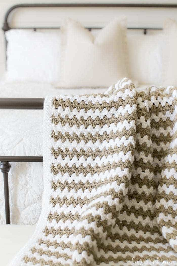 Simple Granny Stripe Afghan | Cobija, Manta y Bordado