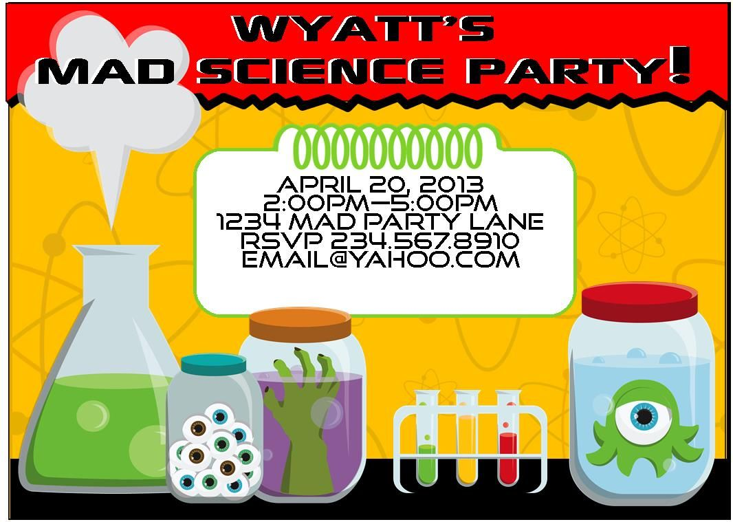Mad Science Party Games Ideas Invitations And Party Supplies