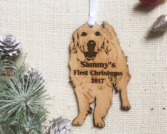 Golden Retriever Personalized Christmas Ornament Custom Pet Gift