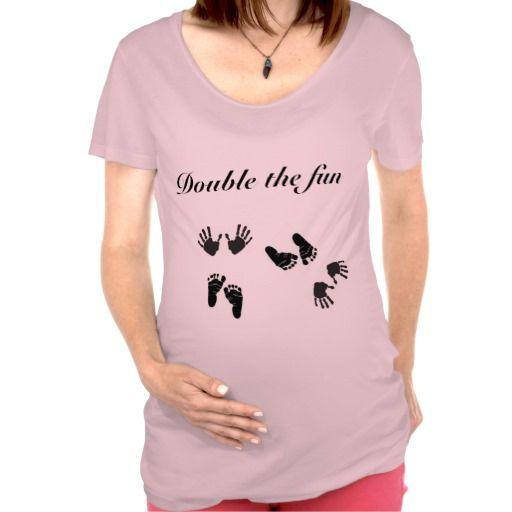 43d62600 Twin Maternity shirt | Zazzle.com | DIY STUFF | Maternity tees, Cute ...