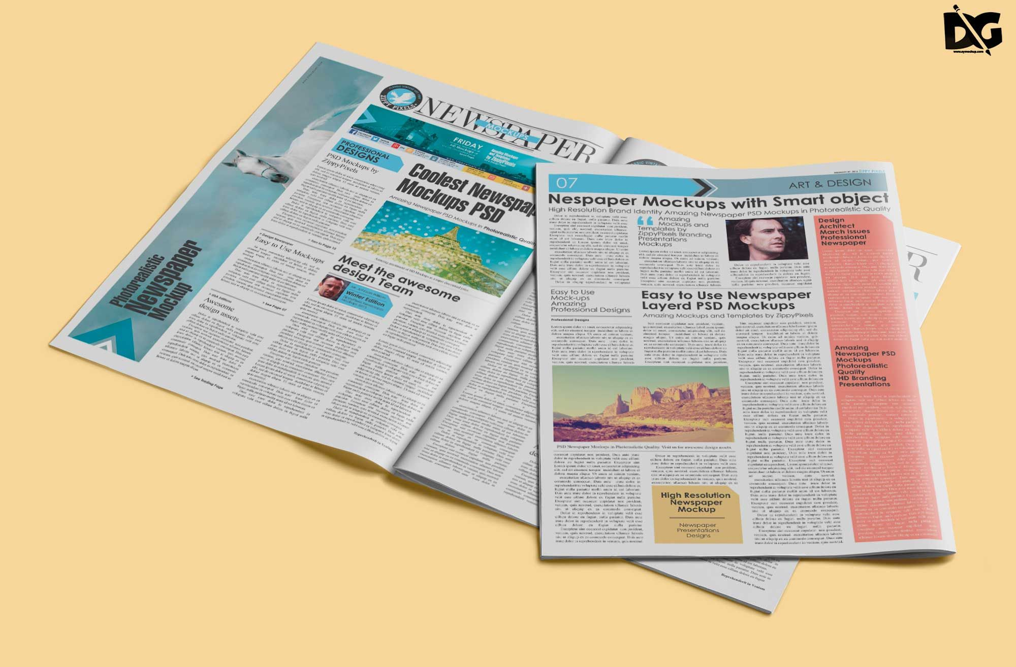 Free Full Page Newspaper Psd Template Mockup Mockup Free Psd Free Logo Mockup Logo Design Mockup
