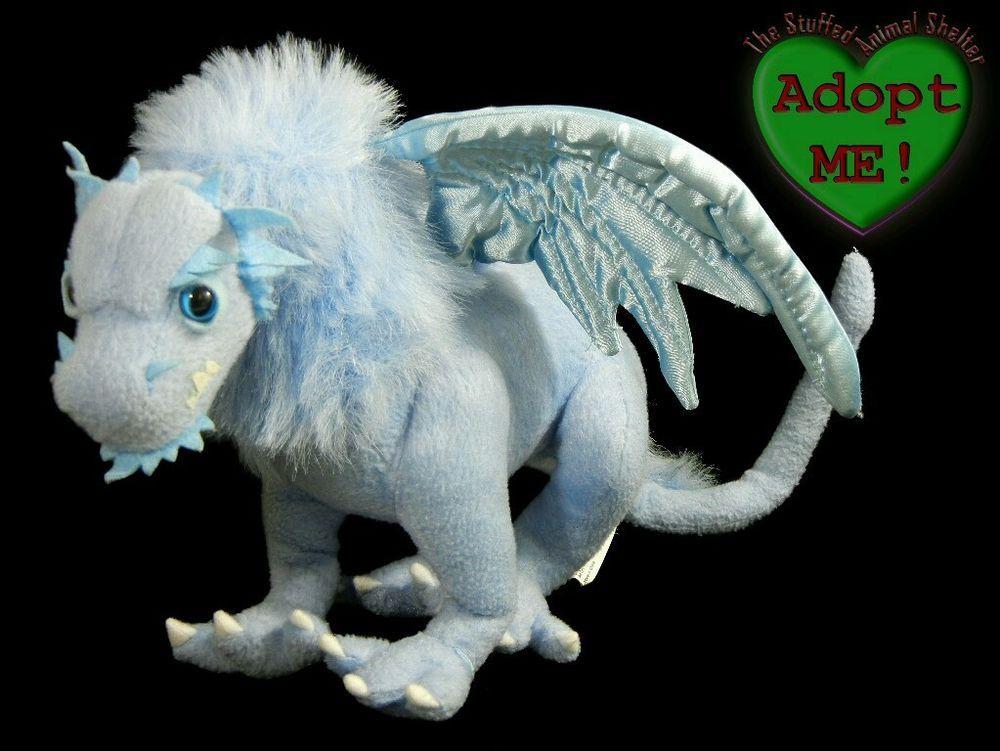 Sababa Toys Stuffed Plush Animal Dragonology Templar Company Blue