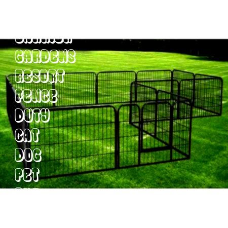 in the gardensresort in the gardens K9 Kennel Animal Enclosure with Welded Wire Top Archie  Oscar Darla Heavy Duty Metal Tube Exercise  Training Dog Pen Size 40 H x 85 W...