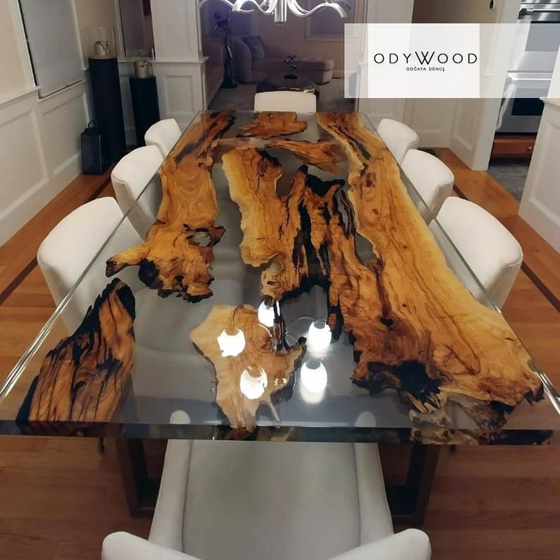 Olive Wood Epoxy Resin Dining Table Custom Order Etsy In 2020 Wood Table Design Epoxy Wood Table Wood Resin Table