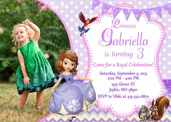 Sofia the first invitation birthday sofia the by ourlittlefunny sofia the first invitation birthday sofia the by ourlittlefunny stopboris Image collections