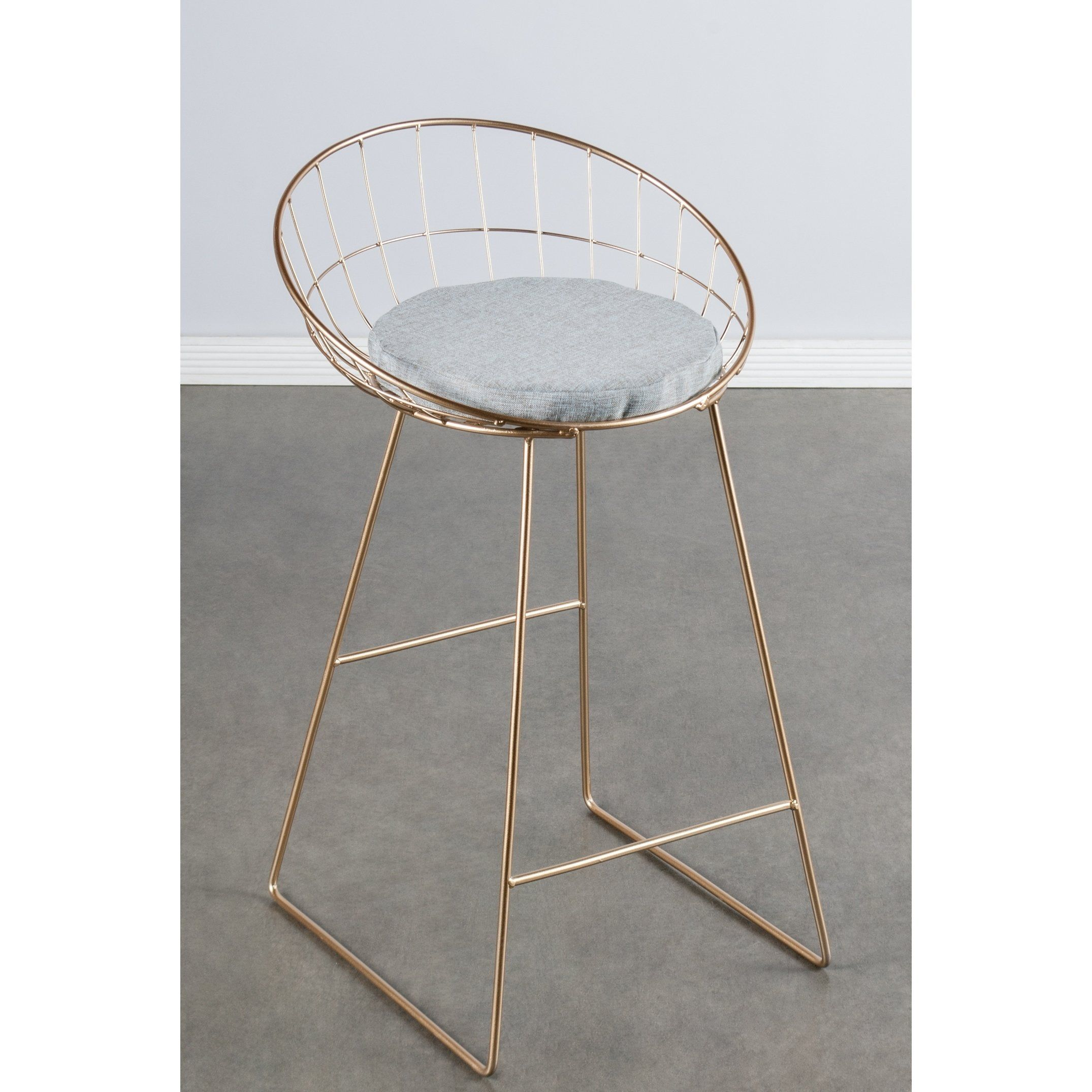 Surprising Statements By J Kylie Grey And Goldtone Wire 33 Inch Tall Dailytribune Chair Design For Home Dailytribuneorg