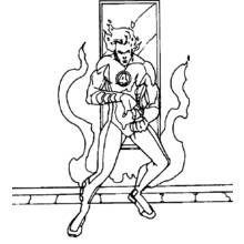 Dessin à colorier  Quatre Fantastiques (Super-héros)  37 - Coloriages à  imprimer 6d98c8389f3