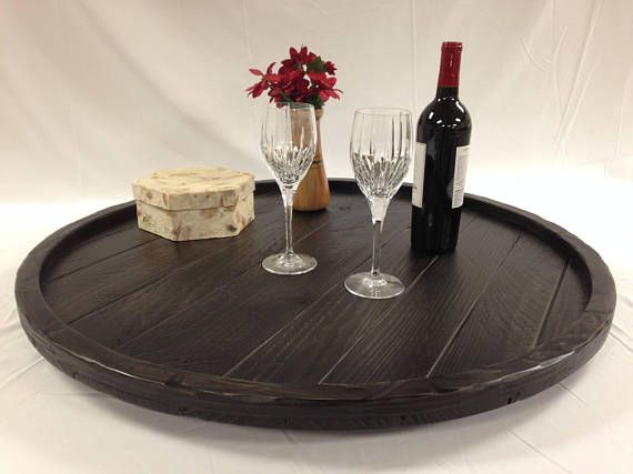 Distressed to Impress! Rustic Modern Oversized Round Ottoman Tray ...