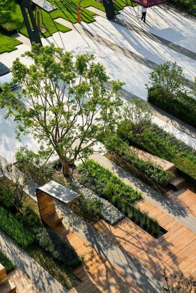 Pin de Luz Eugenia Puerta Atehortua en MOVILIARIO URBANO Pinterest - diseo de jardines urbanos