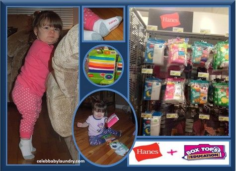 What's Ava Wearing: Hanes Toddler Socks - Comfortable & Brings Cash to Schools with Box Tops