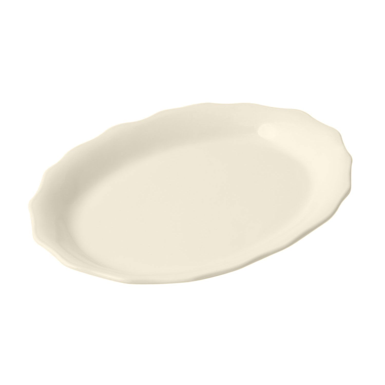 9 12 x 12 inch queen anne platter sandstone ivory case of 4