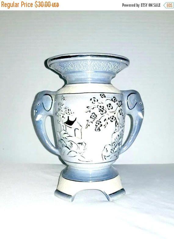 Vintage Lusterware Vasevintage Asian Vaseelephant Vaseelephant