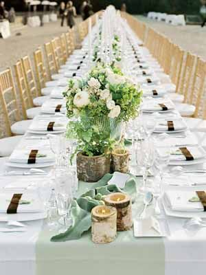 Lovely Decoration Inspiration For Tables Wedding Reception Table Featuring Cream Wooden Chairs And White Plus Flower