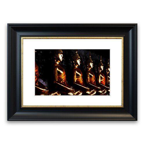 East Urban Home Gerahmter Fotodruck Das Licht des goldenen Buddhas | Wayfair.de