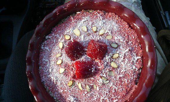 Torta crua de morangos | Receita
