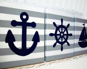Nautical Nursery Paintings Art By Cathyscraftycovers