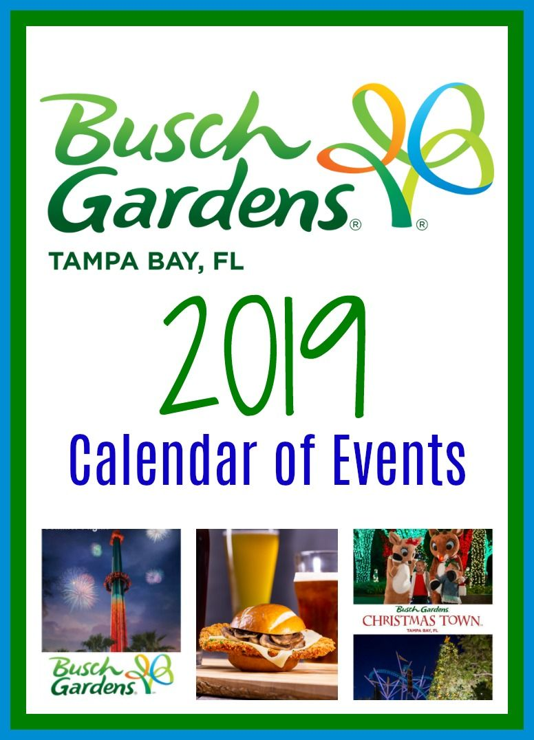Florida Calendar Of Events 2019 2019 Busch Gardens Tampa Bay Calendar Of Events | Having Fun