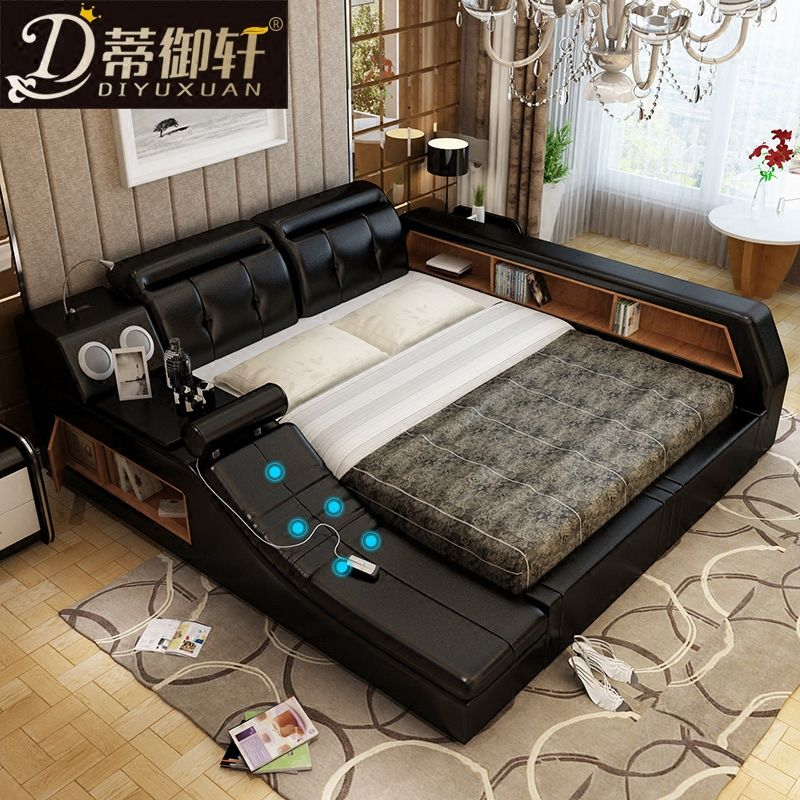 Pedicle Massage Tatami Bed Intelligent Leather Bed Double Bed 1 8