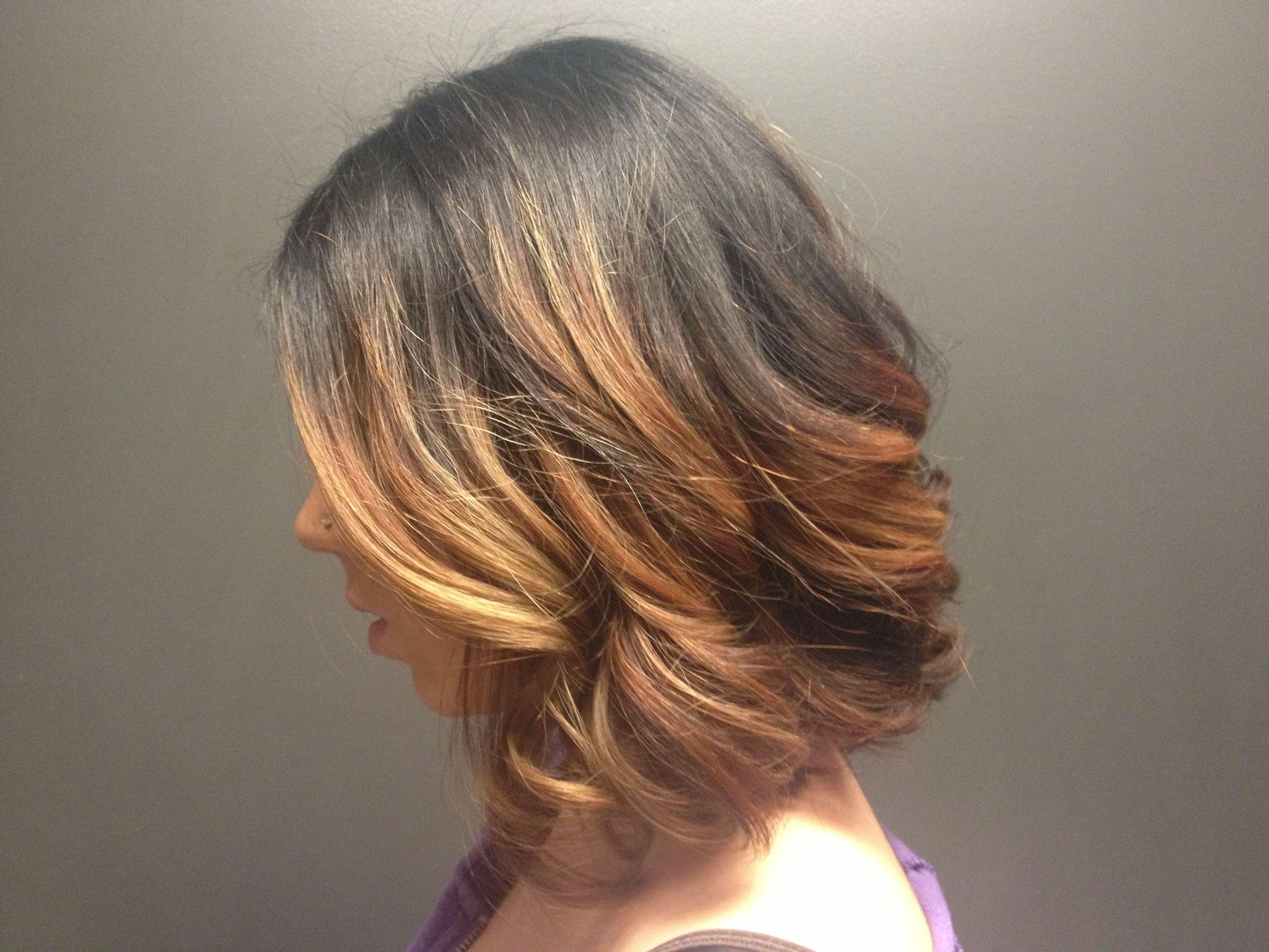 Short ombre long bob hair style and colours pinterest short