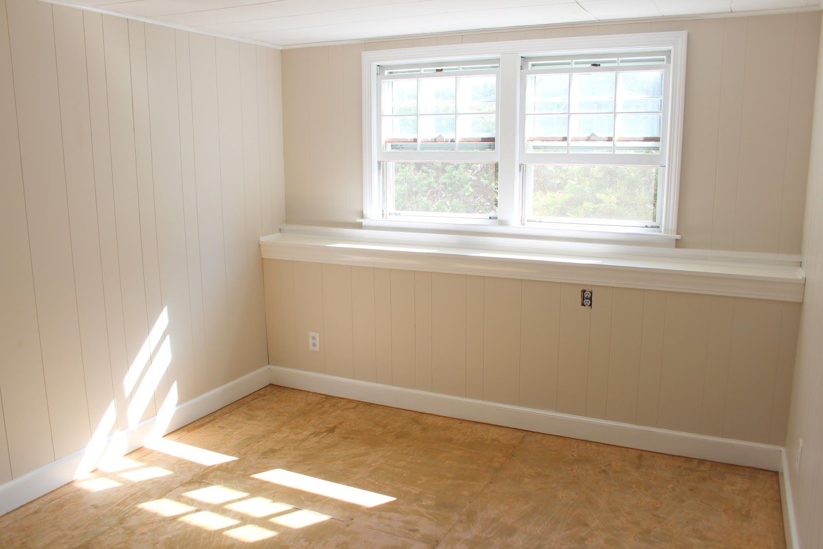 Interior Panel Paint: Paint Wood Paneling - Light Sand Color