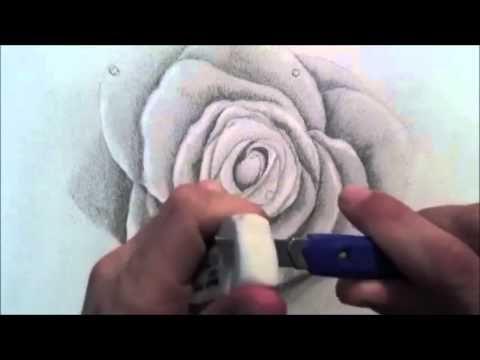 رسم الورد وقطرات الندى وتظليلها بالرصاص Floral Rings Floral